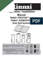 Rinnai Splitsystem Manual