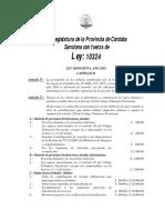 Ley Impositiva Provincial 2016