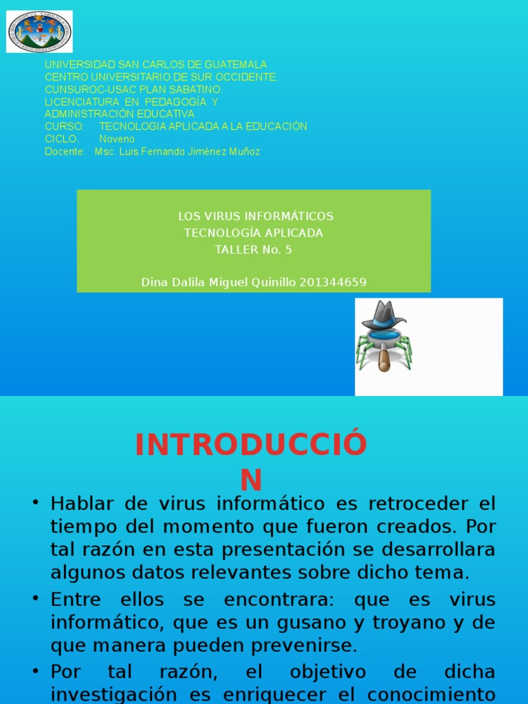 Taller 5 Webquest | Virus de computadora | Software antivirus
