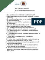Taller Evaluativo de Lectura Conciencia-Atención