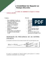 Criterio de Estabilidad de Nyquist en Tiempo Discreto