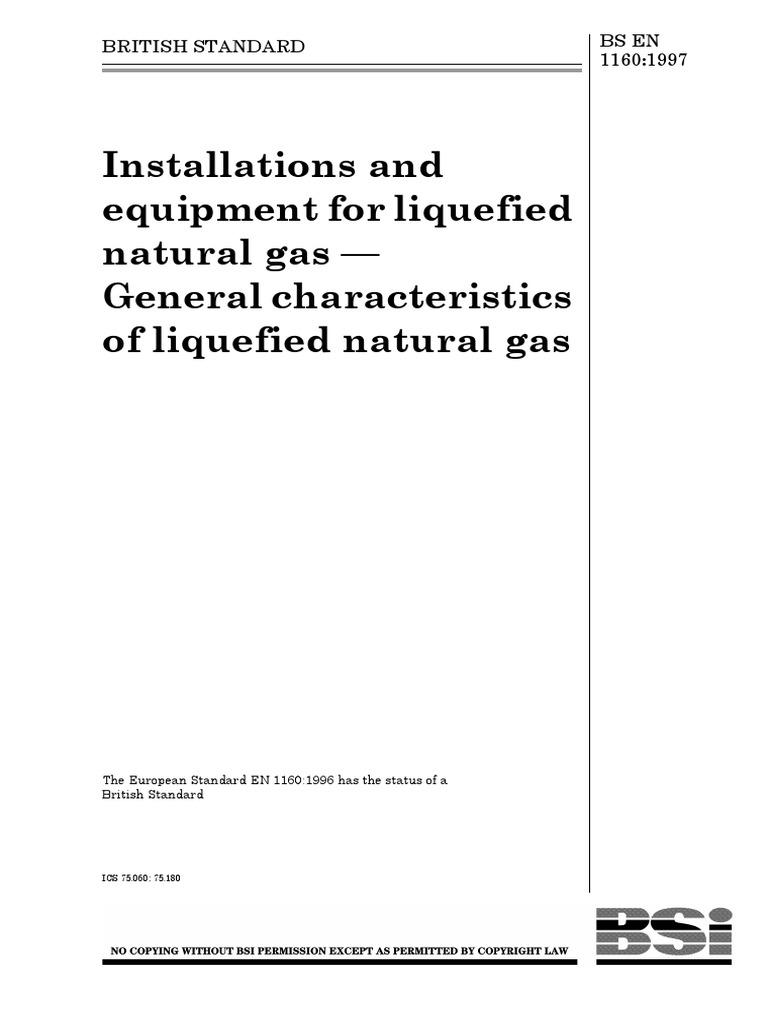 En 1160-1996 | Liquefied Natural Gas | Liquids