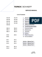 Terex Service Manual Hr, Hml, Skl Eng