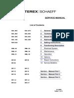 Terex Service Manual Hr, Hml, Skl Eng