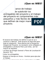 WBS - Alcance.