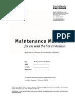 Balony Kubicek B 2205 Maintenance Manual