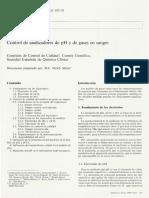 Control de Analizadores de Ph y Gases en Sangre