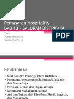 BAB 13 - Salursan Distribusi Hospitality
