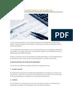 Técnicas y Procedimientos de Auditoría 1