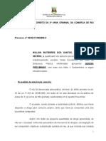 Absolvição sumária posse drogas.doc