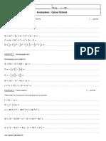 Développement Factorisation 4ème Evaluation Sur Le Calcul Littéral