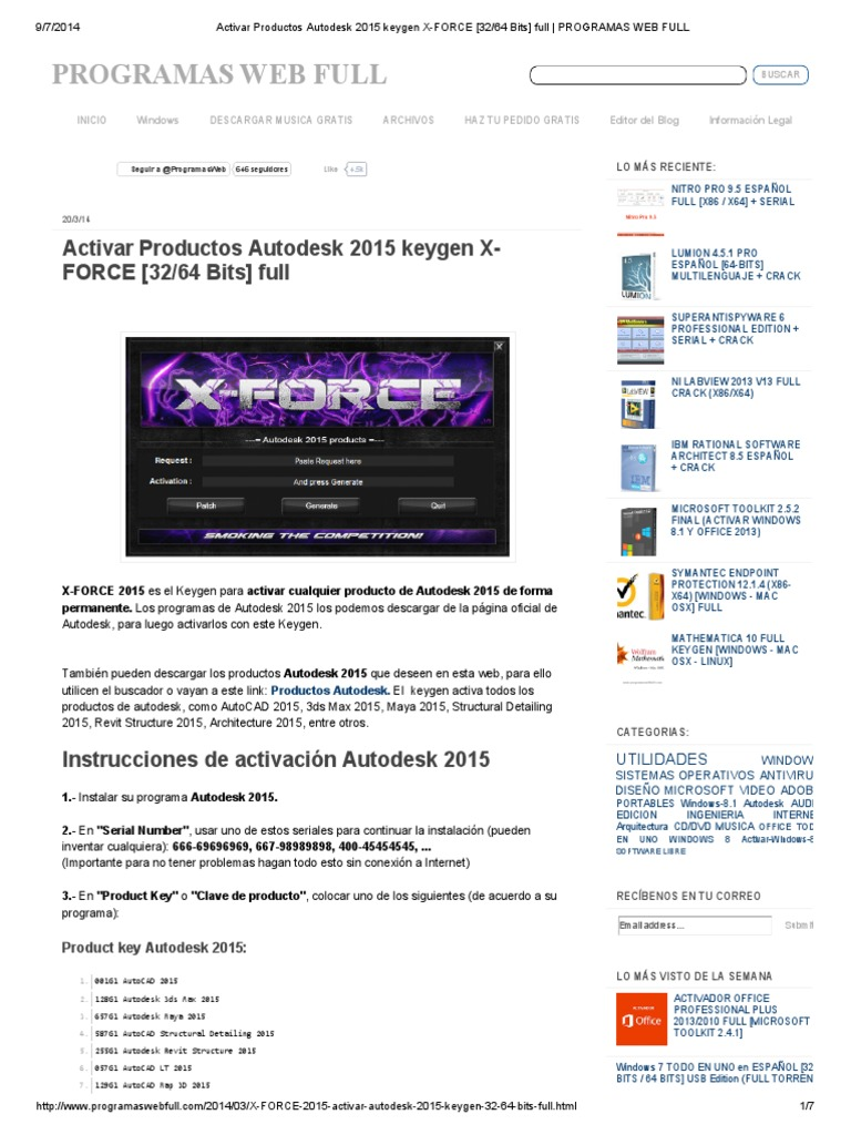 X-Force Keygen for All Autodesk Products - Civil Engineering Community