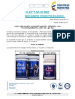 ALERTA SANITARIA Viku Diet Light Max