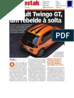 """NOVO RENAULT TWINGO GT NO """"DESTAK"""""""