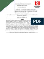 Informe de Laboratorio - Efecto Joule - Corriente y Resistencia Eléctrica (Física 3 -2017-01)