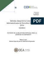 Informe Anual - Relatoria Libertad de Expresion 2016