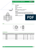 Datasheet 4099 Tuercas Hexagonales DIN 934 DIN en ISO 4032