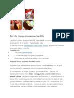 Receta de Crema Chantilly