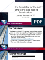 Use of the Calculator for CBT