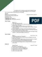 coe resume