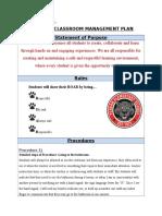 cowper classroom management plan