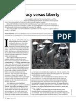 On Democracy Versus Liberty February 2011