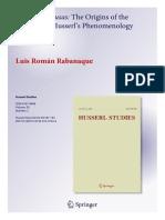 Saulius Geniusas - Review of The Origins of the Horizon in Husserl's Phenomenology ( Husserl Studies 30/2-2014)