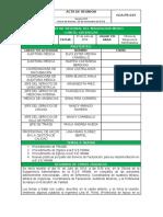 Triage Acta de Reunión 001 Urgencias 01 Julio 2014