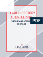 Legal Directory Submissions - Putting Your Best Foot Forward (a LexBlurb Publication)