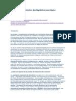 Pruebas y Procedimientos de Diagnóstico Neurológico