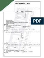 KCET 2017 Question Paper & Answer Key Physics