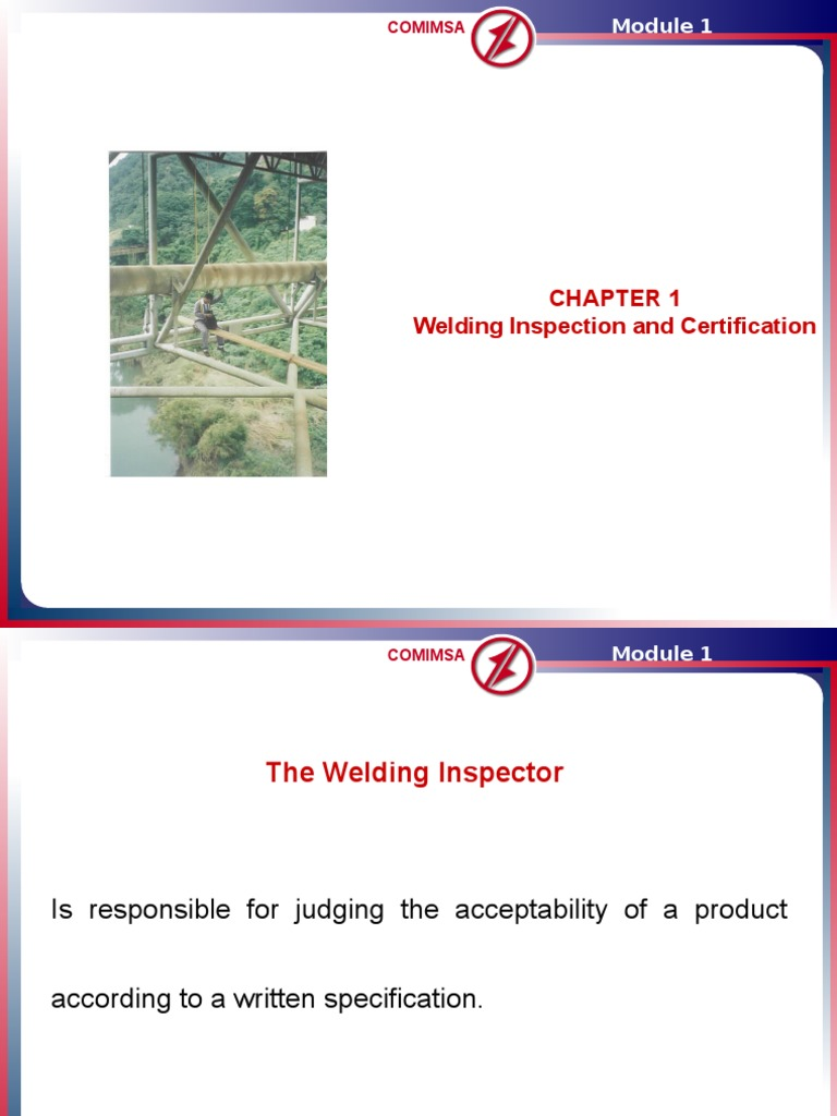 Module 1 Welding Inspection And Certification 6ppt