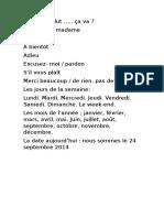Saludos Días Meses en francés