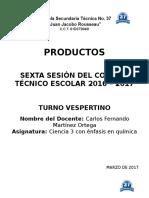 Sexta Sesion Ordinaria CTE