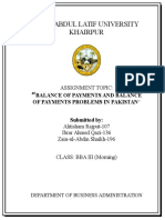 Assignment on Balance of Payment