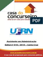 Apostila Ufrn Santa Cruz Assistente Em Administracao