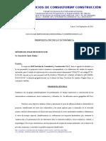 Propuesta Tecnica y Economica Estuido de EIA- Chanduvi