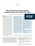 Efficacy of Limited Cefuroxime Prophylaxis in Pediatric Patients After Cardiovascular Surgery