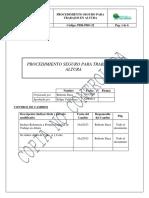 PDR PRO 22 Procedimiento Seguro Para Trabajos en Altura