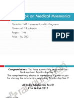 Mnemonics for Medical PG Entrance