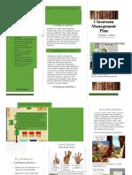 classroom management pamphlet