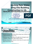 Implementing Rain Water Harvesting in Building Construction in Virginia