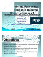 Implementing Rain Water Harvesting in Building Construction in Virginia