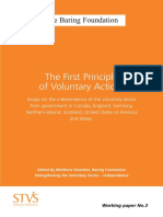 Essays on the Independence of the Voluntary Sector