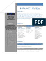Rich Phillips Resume