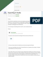 Exporting 5.1 Audio   Adobe Community