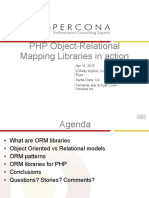 PHP Object-Relational Mapping Libraries in Action Presentation