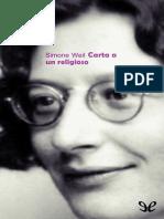 Weil, Simone - Carta a Un Religioso [27837] (r1.1)