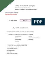 Typo Des Approches D'évaluation Des Entreprises