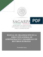 SAGARPA. Manual de Organizacion de La Direccion Generalde Adminidtracion y Desarrollo de Recursos Humanos